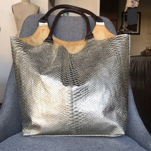 """Purse """"Neiman Marcus"""" large tote bag  gold"""